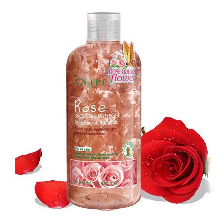 玫瑰花瓣沐浴露